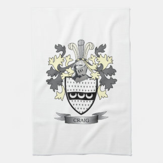 Craig Family Crest Coat of Arms Towels