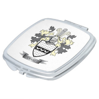 Craig Family Crest Coat of Arms Vanity Mirrors