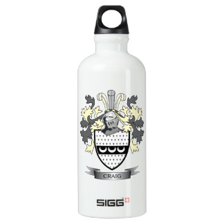 Craig Family Crest Coat of Arms Water Bottle