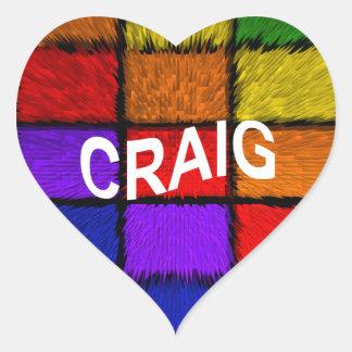 CRAIG HEART STICKER