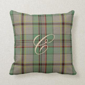 Craig Tartan Monogram Pillow