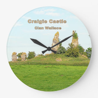 Craigie Castle – Clan Wallace Large Clock