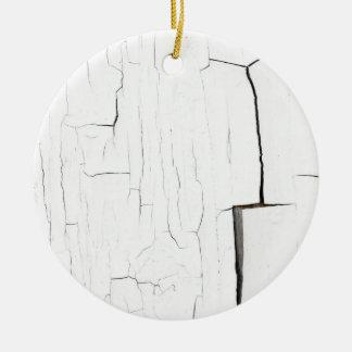 craked paint round ceramic ornament