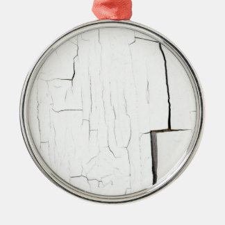 craked paint Silver-Colored round ornament