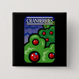 Cranberries 2 Inch Square Button