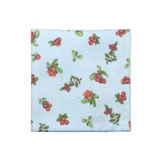 Cranberries blue background napkin