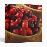 Cranberries in bowls binders