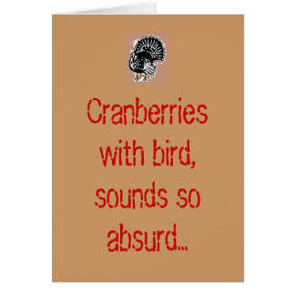Cranberries with bird, sounds so absurd... cards
