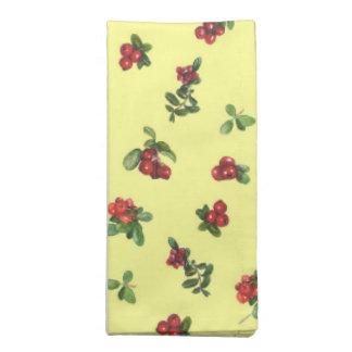 Cranberries yellow background napkin