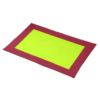 Cranberry and Lime-Colored Placemat