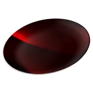 Cranberry & Black Lights Porcelain Plate