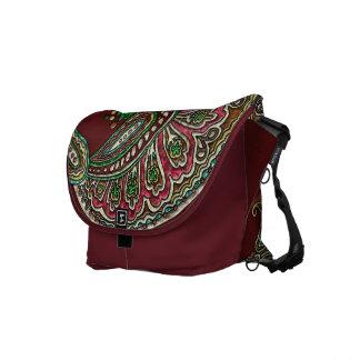 Cranberry Boho Messenger Bags