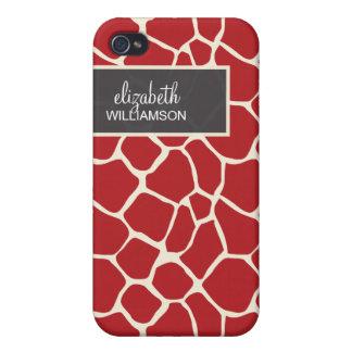Cranberry Giraffe Pern iPhone 4/4S Cover