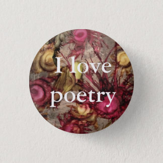 "Cranberry ""I Love Poetry"" Button"
