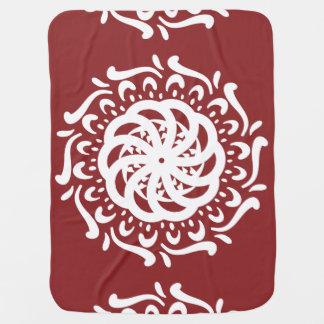 Cranberry Mandala Baby Blanket