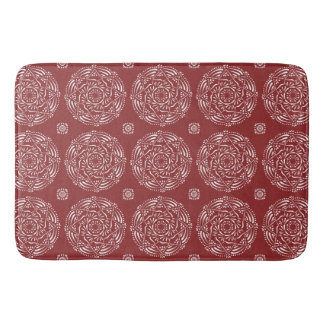 Cranberry Mandala Bath Mat