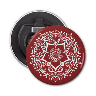 Cranberry Mandala Bottle Opener