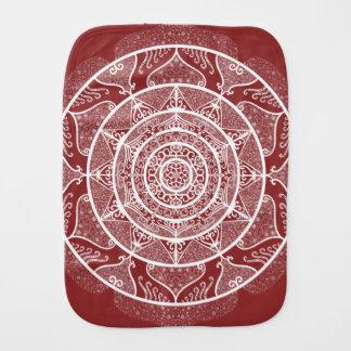 Cranberry Mandala Burp Cloth