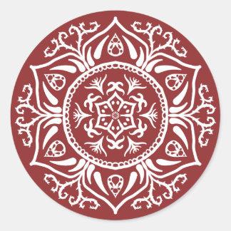 Cranberry Mandala Classic Round Sticker