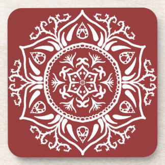 Cranberry Mandala Coaster