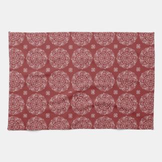 Cranberry Mandala Kitchen Towel