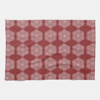 Cranberry Mandala Kitchen Towel