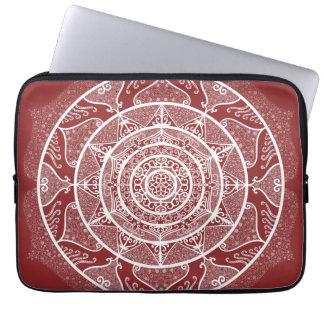 Cranberry Mandala Laptop Sleeve