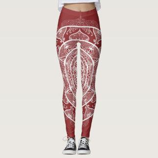 Cranberry Mandala Leggings