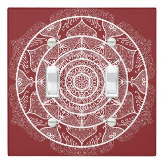 Cranberry Mandala Light Switch Cover
