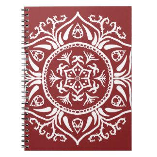 Cranberry Mandala Notebooks