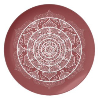 Cranberry Mandala Plate