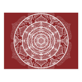 Cranberry Mandala Postcard