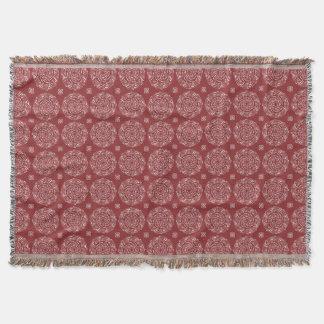 Cranberry Mandala Throw Blanket