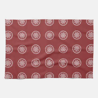 Cranberry Mandala Towel