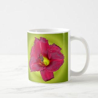 Cranberry on Green - Daylilies Coffee Mug