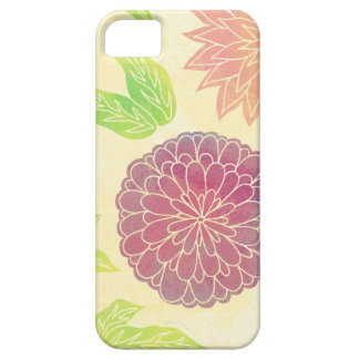 Cranberry & Orange Floral Print iPhone 5 Cover