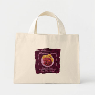 Cranberry Orange Relish: Recipe Mini Tote Bag