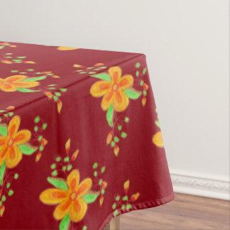 Cranberry Orange Tablecloth