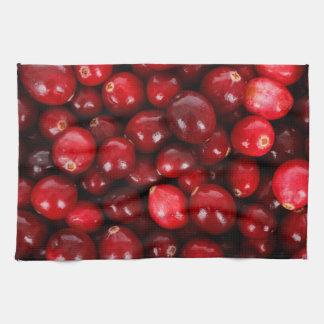 Cranberry pattern kitchen towel