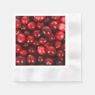 Cranberry pattern paper napkins