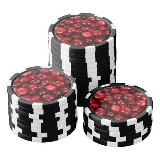 Cranberry pattern poker chips