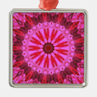 Cranberry Splash Silver-Colored Square Ornament