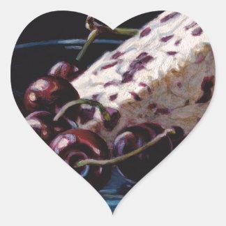 Cranberry Stilton with Cherries Heart Sticker