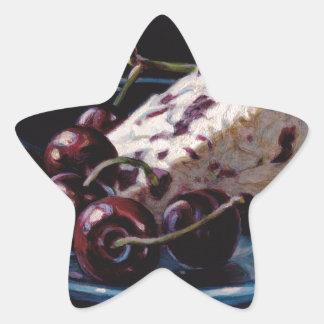 Cranberry Stilton with Cherries Star Sticker