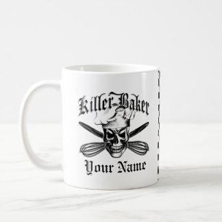 Crâne 3 de chef mug blanc
