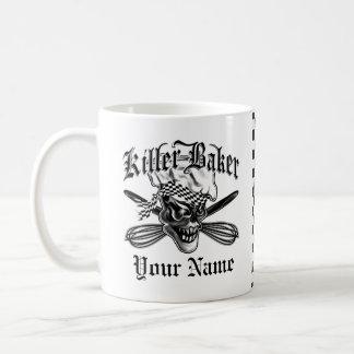 Crâne 5 de chef mug blanc