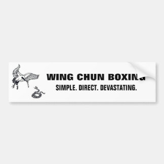 crane and snake, wc banner lrg bumper sticker