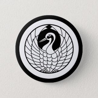 Crane circle in circle 2 inch round button