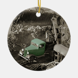 CRANE COLORSPLASH CHEVROLET OPERATING ENGINEER CERAMIC ORNAMENT