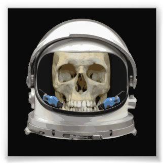 Crâne d'astronaute de casque d'espace photographes